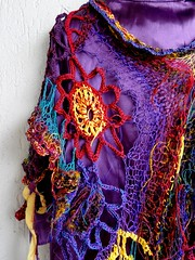 The Bollywood Connection - Make these moments sweet again (MizzieMorawez) Tags: fashion knitting experimental ambient bollywood wearableart visionary vanguard freeform untamed artyarns patterncrochet sarisilkfusion kamikazeknitting