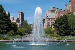Gerberding, Drumheller Fountain, Mary Gates, Hall (Frank Fujimoto) Tags: seattle uw water fountain architecture wa