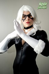 IMG_8737 (Neil Keogh Photography) Tags: white black female blackcat comics mask boots cosplay gloves wig cosplayer collar marvel zip marvelcomics jumpsuit manchesteranimegamingcon2016