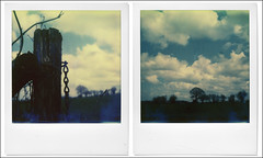 Nivez (diptyque) (@necDOT) Tags: wood polaroid diptych diptyque impossibleproject niveze sx70countryside