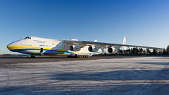 The Mighty Antonov 225 At Stockholm. (spencer.wilmot) Tags: morning snow cold plane airplane morninglight big airport ramp shadows sweden stockholm aircraft aviation transport jet dream cargo apron cossack massive huge essa gigantic freight adb freighter arlanda arn thedream antonov outsize an225 mriya airside antonovdesignbureau antonovairlines antonov225 ur82060 heavytransporter