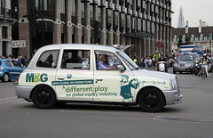LTI TX4 London Taxi in M&G livery (Ian Press Photography) Tags: london cars car carriage cab taxi transport taxis mg international cabbie cabs livery lti tx4