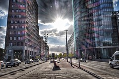 Berlin, Potsdamer Platz (ipadzwochris) Tags: street travel berlin germany capital hauptstadt potsdamerplatz sonycenter