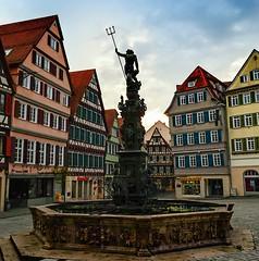 Edition daylight - Neptune fountain  Old Town  Tbingen (eagle1effi) Tags: backlight germany daylight nikon marktplatz ppc tbingen gegenlichtaufnahme d5100