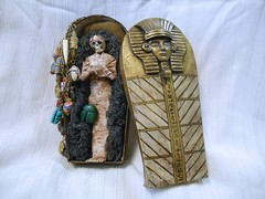 DSCN3314 (LynzCraftz) Tags: halloween mixedmedia polymerclay egyptian mummy scarab pharoh sarcophogus