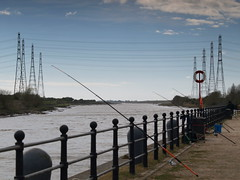 Fishing at the Ribble, Preston (Tony Worrall Foto) Tags: county uk england fish wet water marina docks river flow fisherman stream tour open place northwest unitedkingdom walk country north rail visit images location lancashire walkway area preston poles northern pylons update attraction lancs ribble riverribble riversway prestondocks prestonmarina ashtononribble welovethenorth