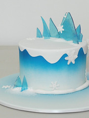 Snowflake (Cake O'Clock) Tags: snowflake blue winter white snow cold ice glitter frozen flake icicle shards