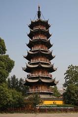 Shanghai, Longhua, Pagoda (blauepics) Tags: china city building tower architecture temple pagoda shanghai stadt architektur turm gebude tempel pagode longhua schanghai