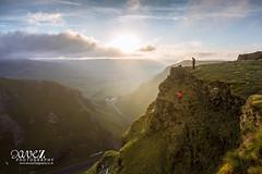 The climber (dave_z_photography) Tags: morning sky mist mountain clouds sunrise canon derbyshire peakdistrict hill peak climbing brave climber peaks winnatspass