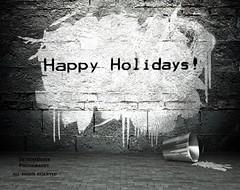Happy Holidays Everyone! (DetroitDerek Photography ( ALL RIGHTS RESERVED )) Tags: xmas family urban usa wall america graffiti midwest paint december michigan detroit banksy happyholidays merrychristmas allrightsreserved percy iphone 313 motown 2015 farr nothdr detroitderek derekfarr kerryfarr