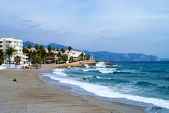 Beach (Kym.) Tags: sea sky beach walking spain walk wave andalusia nerja andalucia