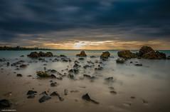 Healing Feeling (ManchegoP.R) Tags: longexposure sunset clouds skyscape nikon rocks puertorico seashore