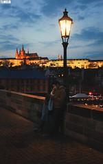 """Life around the phone"" - Charles Bridge - Prague - Czech Republic (TLMELO) Tags: tower clock night easter republic czech prague carlos praga ponte pscoa porsche oldtownsquare astronomical karlvmost powdertower churchofourladyinfrontoftn metropolitancathedralofsaintsvituswenceslausandadalbert"