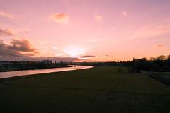 Sunset commute (derliebewolf) Tags: sunset sky bike clouds river cycling evening natur sigma commute commuting today cloudporn elbe goldenhour elbwiesen sigmadp1 sigmadp1x