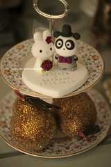 Love rabbit and panda wedding cake topper (charles fukuyama) Tags: wedding bunny conejo lapin brideandgroom initials coniglio  cakedecoration  bridalbouquet weddingcaketopper  cuterabbit cutepanda claydoll  animalscaketopper pandacaketopper rabbitcaketopper kikuike