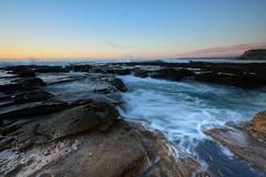 Over the Rocks (Paul Hollins) Tags: seascape rocks australia newsouthwales aus watermovement newcastleeast nikon1635mmf4 paulhollins nikond750