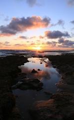 The pool (alideniese) Tags: ocean sunset sea sky water clouds reflections landscape evening rocks dusk shoreline australia melbourne victoria morningtonpeninsula portsea waterscape