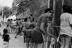 BK Hi Art Machine (slightheadache) Tags: nyc newyorkcity blackandwhite bw streetart newyork art film pentax tmax silkscreen pentaxk1000 filmcamera tmax400 2015 bham socialpractice fenceweaving bkhiartmachine