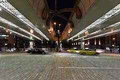 Nihonbashi Impressions (Matthias Harbers) Tags: life street city bridge light people urban car japan night photoshop shopping tokyo town moving nikon taxi elements labs d750 dxo topaz nikond750 tamron1530mmf28divcusd