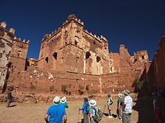 Courtyard of the El Glaoui Kasbah (nisudapi) Tags: castle morocco kasbah 2015 telouet elglaoui