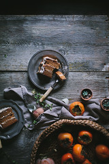 Six Years of Adventures in Cooking + Persimmon Cake with Brown Butter Icing and Salted Creme Fraiche Caramel by Eva Kosmas Flores (Eva Kosmas Flores) Tags: winter brown cake recipe dessert creme caramel butter icing vanilla persimmon frosting salted buttercream fraiche spiced