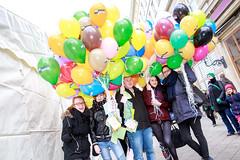 Luftballons bei der 8. Meile der Demokratie 2016