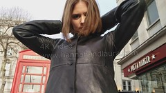 girl in leather pants, gloves, jacket boots 4K  (girl leather pants) Tags: