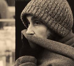 Portrait (Natali Antonovich) Tags: christmas winter brussels portrait monochrome belgium belgique belgie stare reverie christmasholidays sweetbrussels
