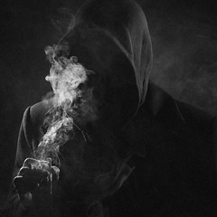 (ivankopchenov) Tags: portrait man dark cigarette smoke