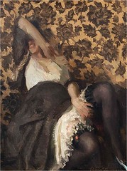 La parata, 1921 // by Alfredo Protti (1882-1949) (mike catalonian) Tags: 1920s portrait italy female painting fulllength 1921 xxcentury alfredoprotti