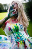 Ok to paint? (Jon W. Howson) Tags: park uk blue red summer portrait england woman green girl beauty yellow lady female photography woods jon paint afternoon outdoor south sheffield yorkshire skirt blonde colourful tulle splatter tutu southyorkshire tulleskirt portraitphotography howson eccelsall jowaho jonhowson jonhowsonphotography