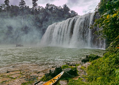 Tinuy-an Falls (allansoul) Tags: vacation water boats view cloudy philippines overcast falls waterfalls views ultrawide hdr surigao 2016 surigaodelsur tinuyan tokina1116 surigaosur allansoul