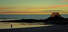 20150809-118_Lone figure  at Sunset (gary.hadden) Tags: sunset seascape landscape evening fort silhouettes saintmalo stmalo lonefigure