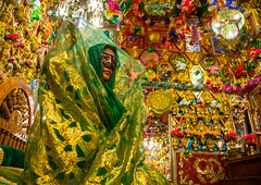bride in the decorated room for traditional wedding, Hormozgan, Bandar-e Kong, Iran (Eric Lafforgue) Tags: wedding people woman horizontal photography persian clothing women colorful asia pattern veil dress mask iran room muslim islam traditional religion decoration ceremony hijab culture traditions marriage persia folklore womenonly kong celebration hidden indoors identity human covered ritual iranian colourful ornate custom adults abundance adultsonly oneperson islamic burqa ethnicity middleeastern persiangulf sunni chador 20sadult youngadultwoman hormozgan onewomanonly burqua   embroidering 1people  iro straitofhormuz  unrecognizableperson colourpicture bandarekong  borqe boregheh irandsc04792