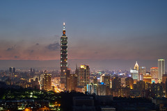 Taipei 101 (yiming1218) Tags: city sunset building skyline architecture zeiss 50mm cityscape nightscape taiwan 101 taipei nightview f2   50 carlzeiss  loxia hushan mttiger