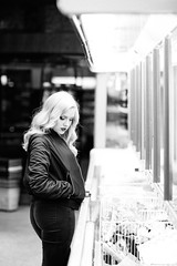 I had no idea (Mark Brim) Tags: hot sexy film girl shop shopping lights photoshoot alt jacket bomber