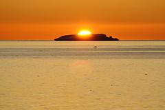 Der erste Sonnenuntergang für das DLR-Expeditionsteam im antarktischen Sommer nach fast drei Monaten über der Terra Nova Bucht