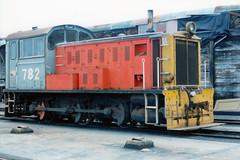 DSA 782 07/02/1988 Timaru, NZ (DX 5517) Tags: class mitsubishi dsa 060 782 mitsubishilocomotive dsa782