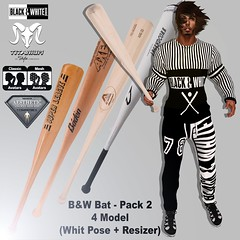 B&W Bat - Pack 2 (With Pose + Resizer) (Lito Titanium) Tags: new white man black male men yoga set shirt pose outfit long tank pants mesh top avatar bat avi event pack sweat enzo now titanium gym macho sleeve exclusive hombre homme mec aesthetic tmw fitted resizer fitmesh