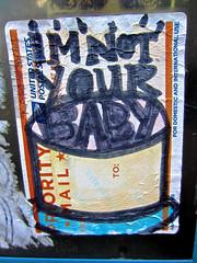 I'm Not Your Baby, Philadelphia, PA (Robby Virus) Tags: baby art philadelphia hat sticker im mail pennsylvania your slap usps priority not