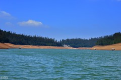 The blue waters of Paykara lake - Ooty, India (RSK.2016) Tags: travel blue trees sky brown india lake nature water colors beautiful clouds landscape photography colorful waterfront outdoor bluewater bluesky exhibition explore experience land ooty waterscape naturephotography nikond3200 pykara pykaralake