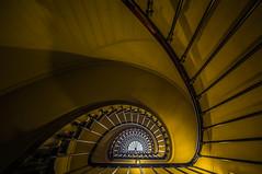 Parisian staircase ... (johan de Cocq) Tags: city travel paris france stairs opera