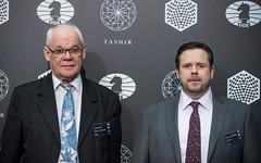 20160323_moscow_candidates_R10_Werner_Stubenvoll_Hal_Bond_arbiters_5138 (davidllada) Tags: moscow chess bond hal echecs candidates ajedrez werner sjakk xadrez 2016 schach schaak mosc agon stubenvoll