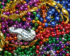 All that glitters is not gold (Monceau) Tags: beads shiny colorful seahorse mardigras glistening glittering