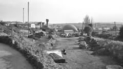 Brislington station (1), 1978 (Blue-pelican-railway) Tags: film bristol closed railway northsomerset brislington