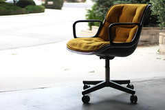 My new Knoll Pollock Executive Chair - MCM - 1979 (rarefruitfan) Tags: yellow modern vintage chair furniture retro mustard 1960s pollock knoll throwback 1960 mcm