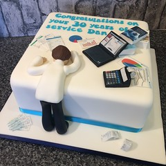Accountant long service cake