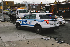 Car accident, NYPD supervisor Brooklyn, NY (Sandman Design) Tags: ford explorer police nypd emergency patrol supervisor squadcar interceptor rmp