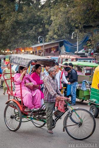 Riksza, popularny środek transportu ludzi