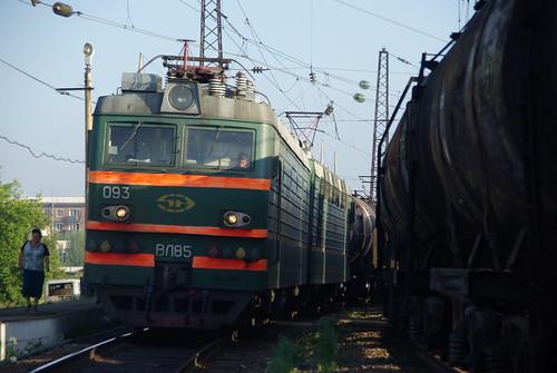 RZD VL85-093. Transsib line, Kitoi station, Irkutsk oblast. ©  trolleway